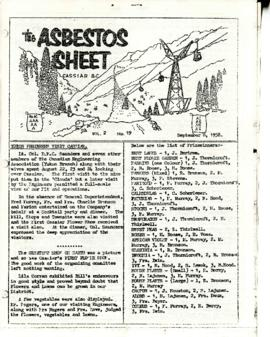 The Asbestos Sheet 8 Sept. 1958