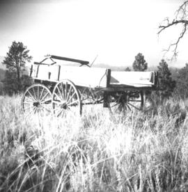 Old wagon at a ranch near Peterson Creek