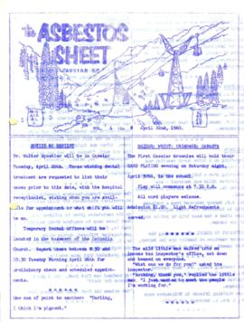 The Asbestos Sheet Apr. 1960