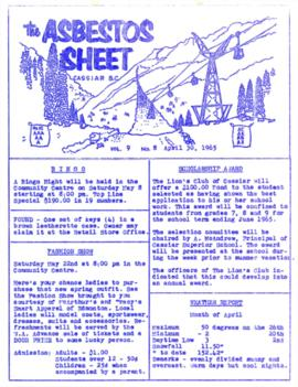 The Asbestos Sheet Apr. 1965