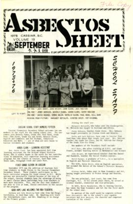 The Asbestos Sheet Sept. 1975