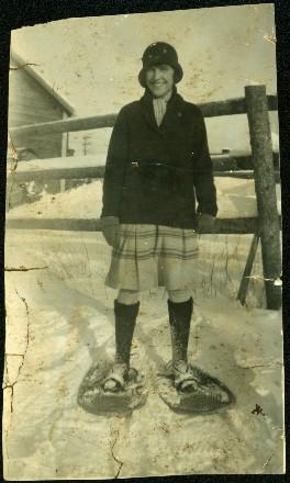 Margaret Wearing Snow Shoes