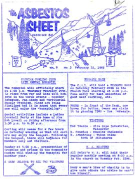 The Asbestos Sheet Feb. 1965