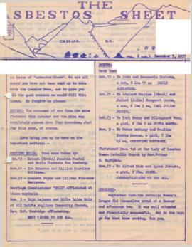 The Asbestos Sheet Dec. 1957