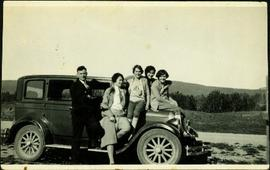 Ellen and Lucy Taylor in Group by Car