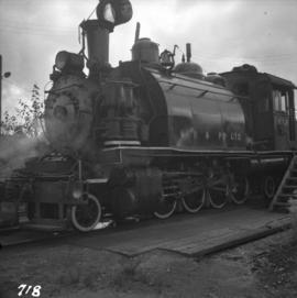 2-8-2 tank locomotive belonging to MacMillan, Bloedel, & Powell River Ltd.