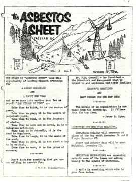 The Asbestos Sheet 22 Dec. 1958
