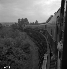 West Coast Railway Association special on C.N. trestle