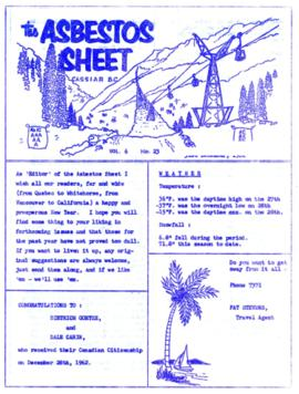 The Asbestos Sheet Dec. 1962