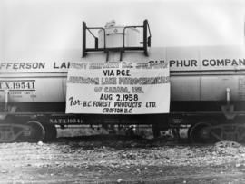 First Shipment BC Sulphur Via Pacific Great Eastern Railway