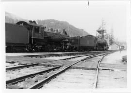 Locomotives #59 & #161 at North Yard (Pacific Great Eastern Railroad)