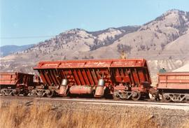 CPR coal train wreck near Lafarge in Kamloops