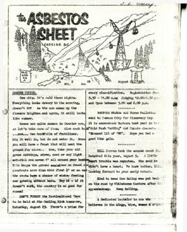 The Asbestos Sheet 22 Aug. 1958