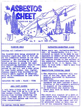 The Asbestos Sheet May 1965