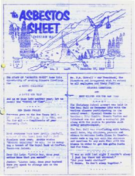 The Asbestos Sheet Dec. 1959