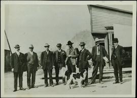 Hugh Taylor Sr. with Group of Men on Street