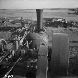 Traction engine at Nanton, Alberta