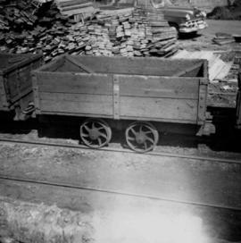 Small coal tram at Tsable pit on Vancouver Island