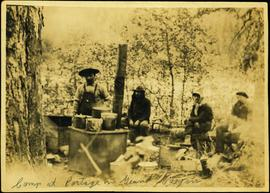 Camp at Portage in the Grand Canyon of the Fraser