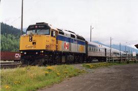 Eastbound VIA Rail train in Smithers