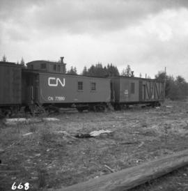 C.N.R. line at Deerholme Junction on Vancouver Island
