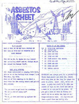 The Asbestos Sheet May 1960