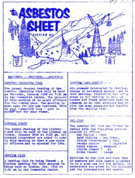 The Asbestos Sheet Jan. 1964