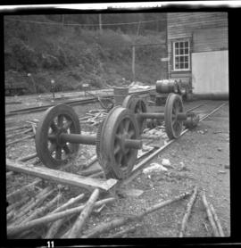 Britannia Copper Mine derelict traction wheels