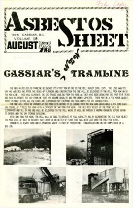 The Asbestos Sheet Aug. 1975