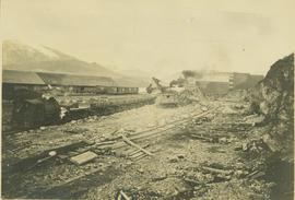 Construction of rail yards and wharfs, Prince Rupert