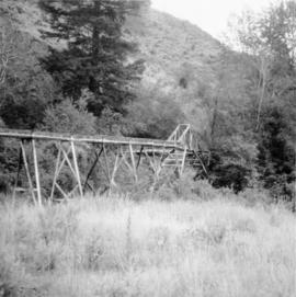 Flume crossing near Keremeos Centre