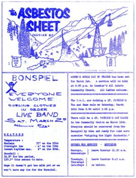 The Asbestos Sheet Feb. 1963