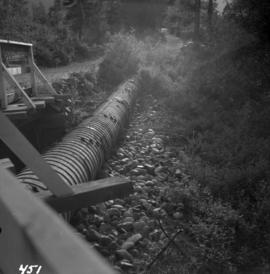 Wooden pipeline carrying water near Ashnola