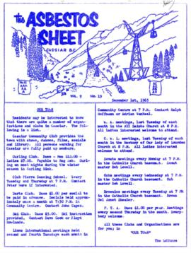 The Asbestos Sheet Dec. 1965