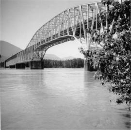 Agassiz road bridge across Fraser River