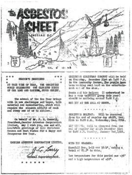 The Asbestos Sheet Dec. 1961