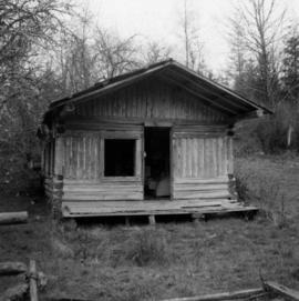 Settler's log cabin on the Sechelt Peninsula