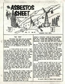 The Asbestos Sheet 31 Dec. 1965