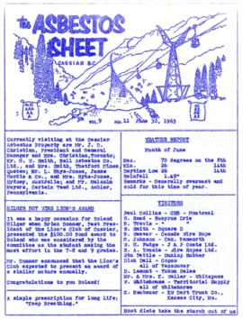 The Asbestos Sheet June 1965