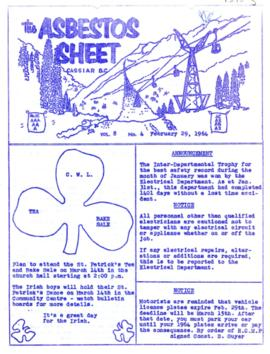 The Asbestos Sheet Feb. 1964