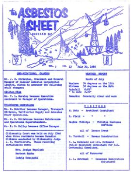 The Asbestos Sheet July 1965