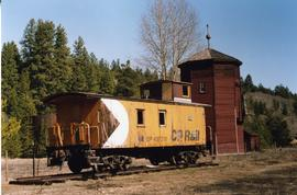 Wooden caboose and water tank