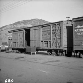 C.N.R. boxcar at Kamloops Junction
