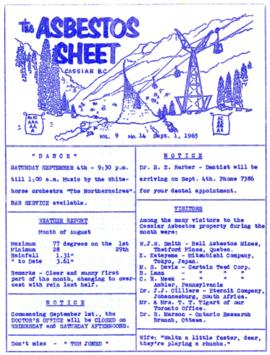 The Asbestos Sheet Sept. 1965