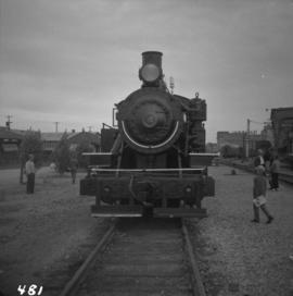 West Coast Railway Association locomotive at station in Vancouver, B.C.