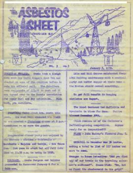 The Asbestos Sheet Jan. 1959