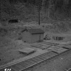 Section shed on C.P.R. track near Flat Creek or Illecillewaet