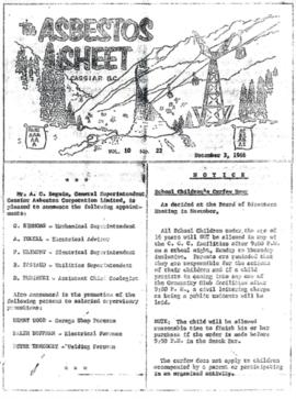The Asbestos Sheet Dec. 1966