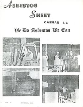 The Asbestos Sheet Sept. 1973