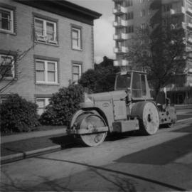 Road roller belonging to the Pavements Derpartment of the City of Vancouver